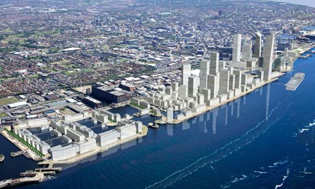 An artist's impression of Liverpool Waters