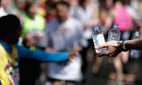 Running race: water station