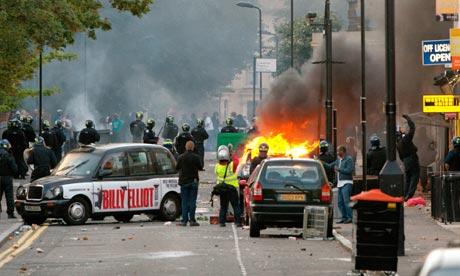 London riots Hackney