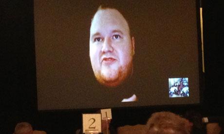 Kim Dotcom talks by satellite link from New Zealand