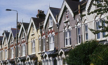 Gothic style Victorian terraced houses in south London