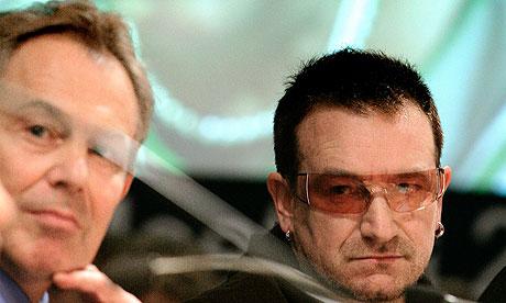 Tony Blair and Bono in 2007