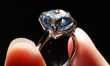 Blue diamond unearthed at the Cullinan mine
