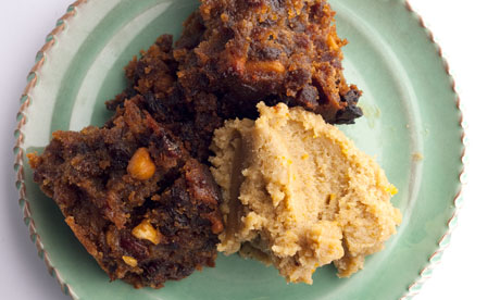 Christmas Pudding con Hard Sauce