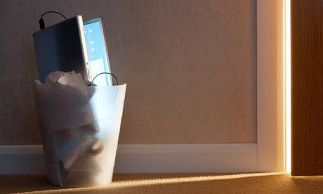 laptop in the bin