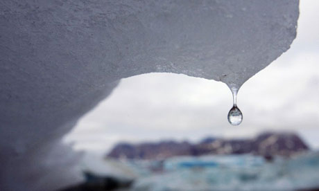 The icebergs are crying.