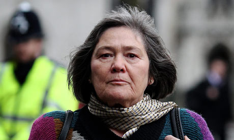 Clare Short arriving to give evidence at the Iraq Inquiry