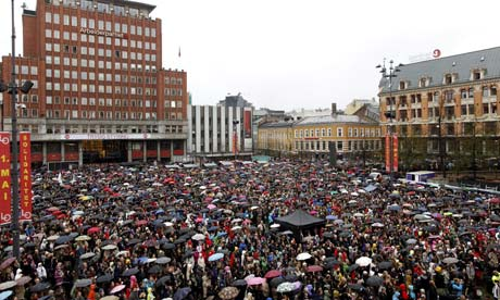 Singalong protest in Oslo