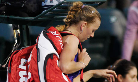 Petra Kvitova is suffering from stomach bug