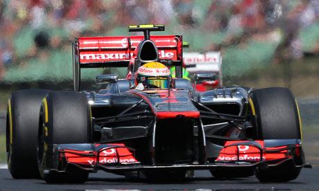 Lewis Hamilton on his way to pole