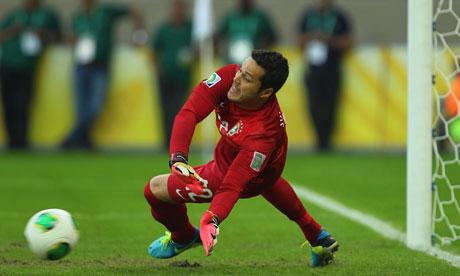 The goalkeeper Julio Cesar of Brazil