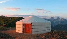 Mongolian yurts, Vaud, Switzerland