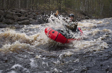 Packrafting with Hendrik Morkel in Finland