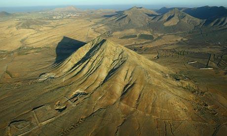 Tindaya mountain in Fuerteventura, Spain