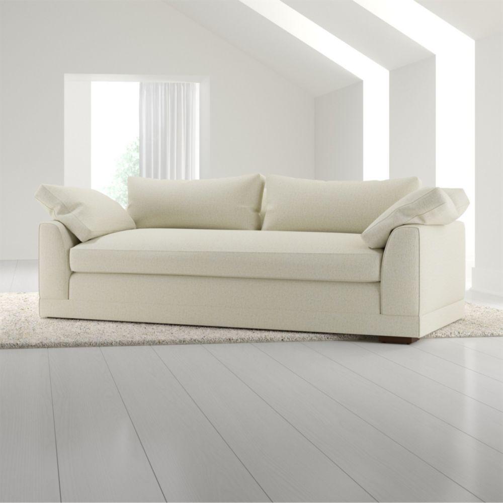 delmar pillow arm sofa crate and barrel