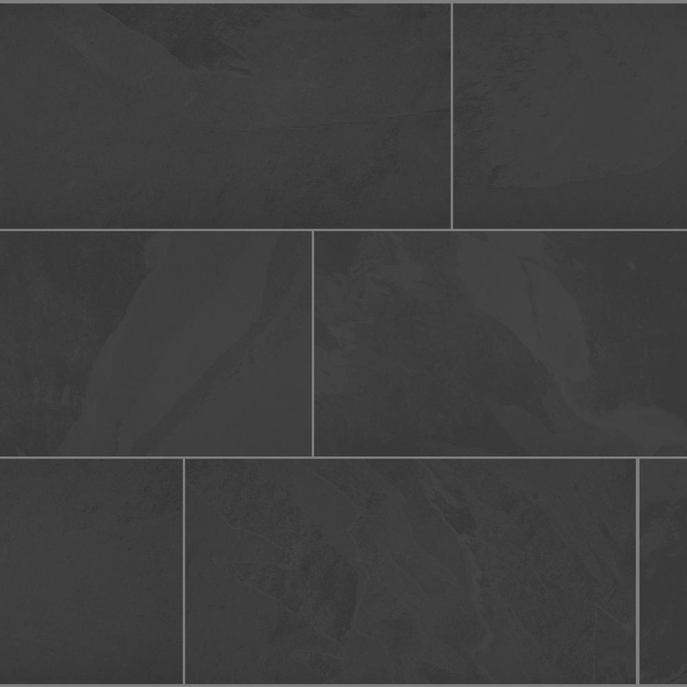 florida tile home collection galactic slate 12 in x 24 in porcelain floor and wall tile 13 62 sq ft case black