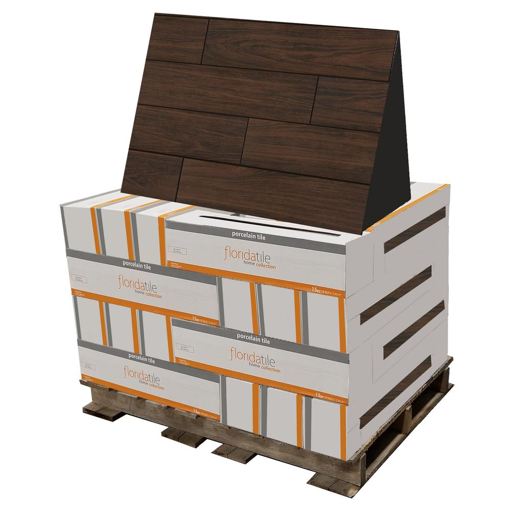 florida tile home collection burlington walnut brown 6 in x 24 in porcelain floor and wall tile 448 sq ft pallet