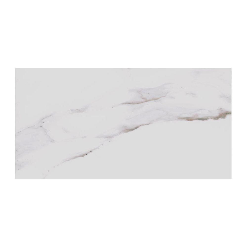 marazzi developed by nature calacatta 12 in x 24 in glazed porcelain floor and wall tile 15 6 sq ft case