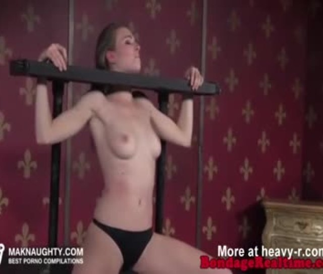 Brunette Babe Is Toyed In Ass While In Bondage