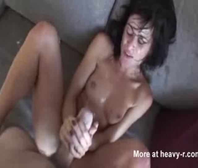 Sweaty Girl Takes Massive Cumshot