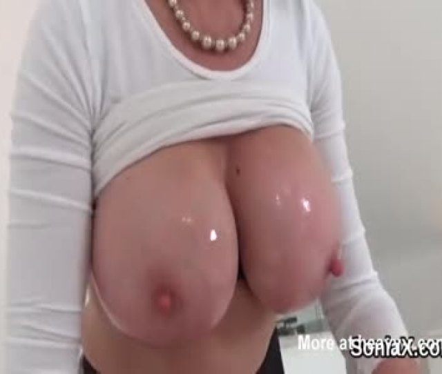 Mature Lady Oily Tits Massage