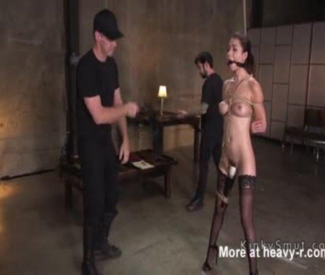Sexy Brunette In Bondage