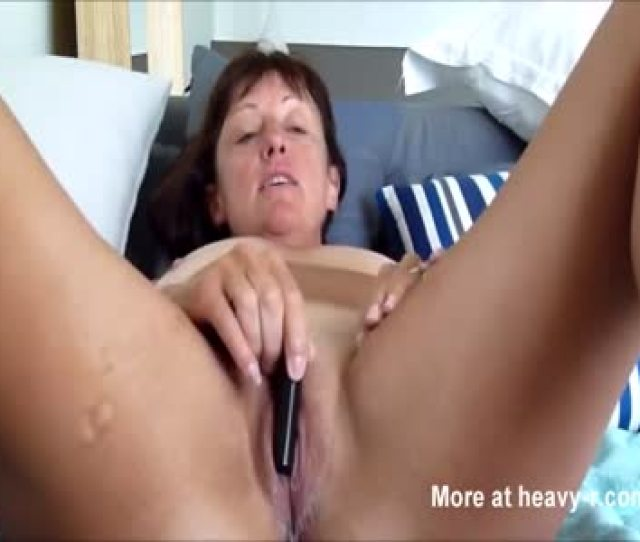 Cougar Vibrating Her Pussy