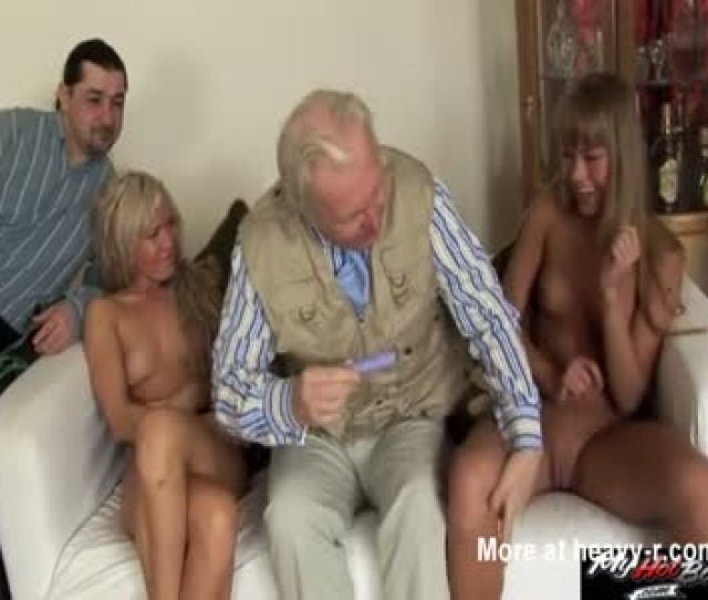 Foursome With Grandpa And Dad