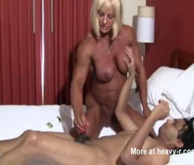 Female Bodybuilder Riding Dick