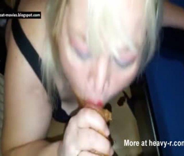 Mature Slut Sucking Shitty Cock