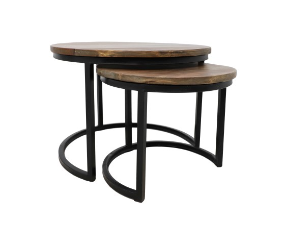 2 piece round coffee table set