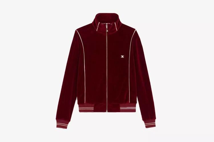 Embroidered Zip-Up Sweatshirt