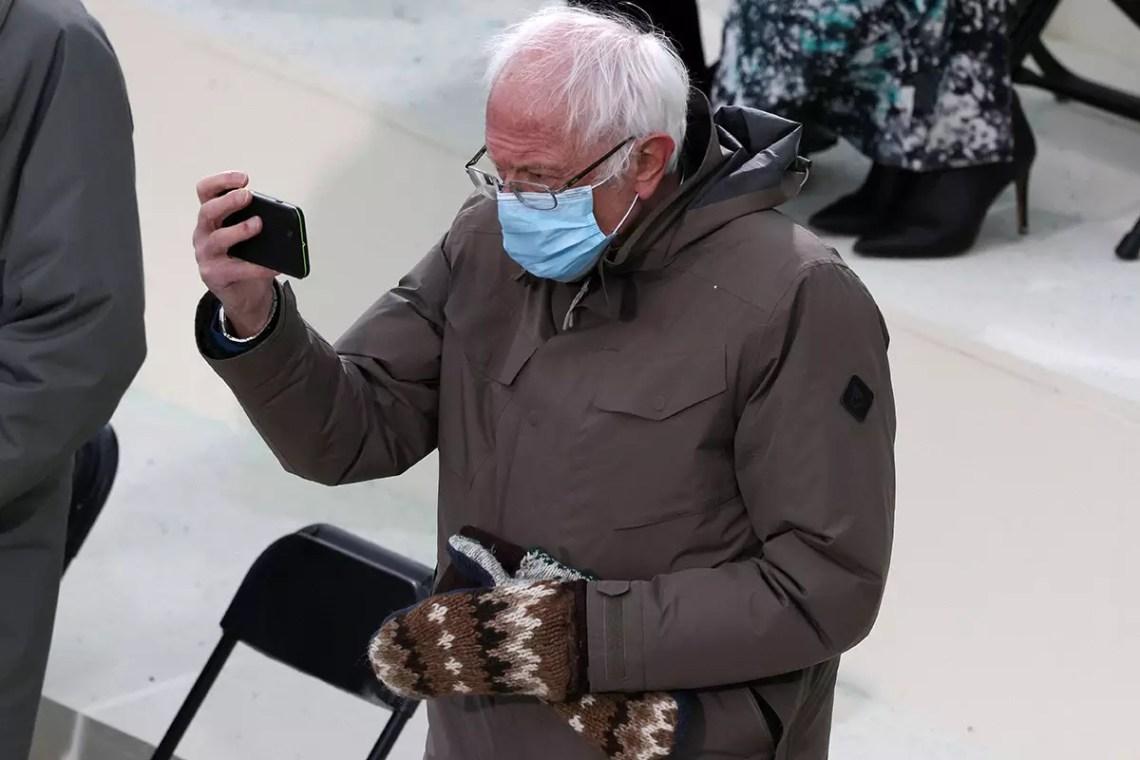 Bernie's Burton Jacket Is Officially Fashion Gold