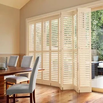 tracked shutters measured fitted
