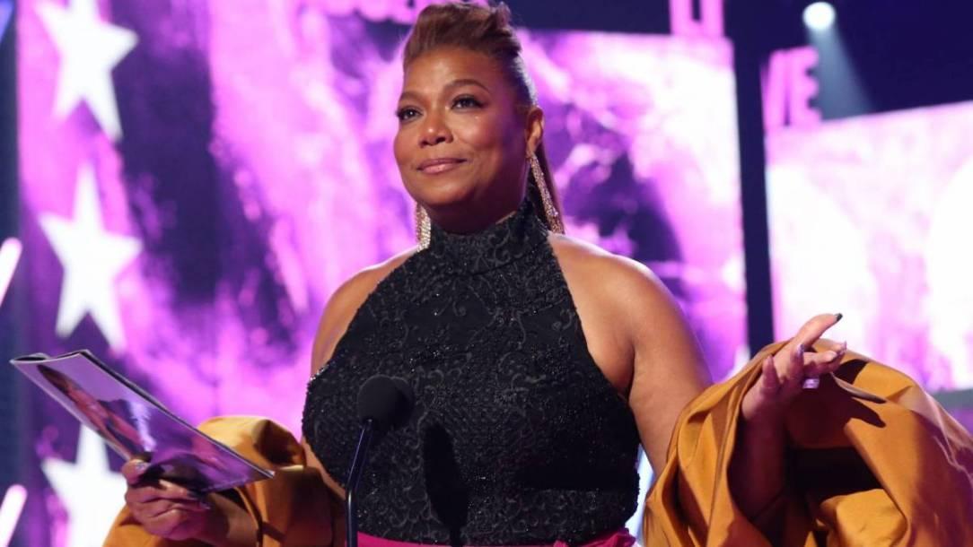 Queen Latifah Acknowledges Longtime Love Eboni Nichols & Their Son During 2021 BET Awards Speech