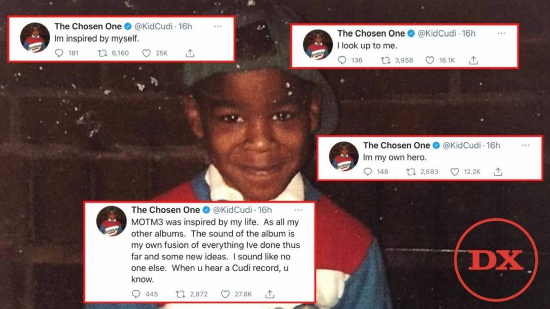 Kid Cudi Proclaims 'I'm My Own Hero' During Spicy 'Man On The Moon III' Twitter Diatribe