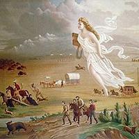 "Illustration of ""Manifest Destiny"" ( John Gast, 1872)"