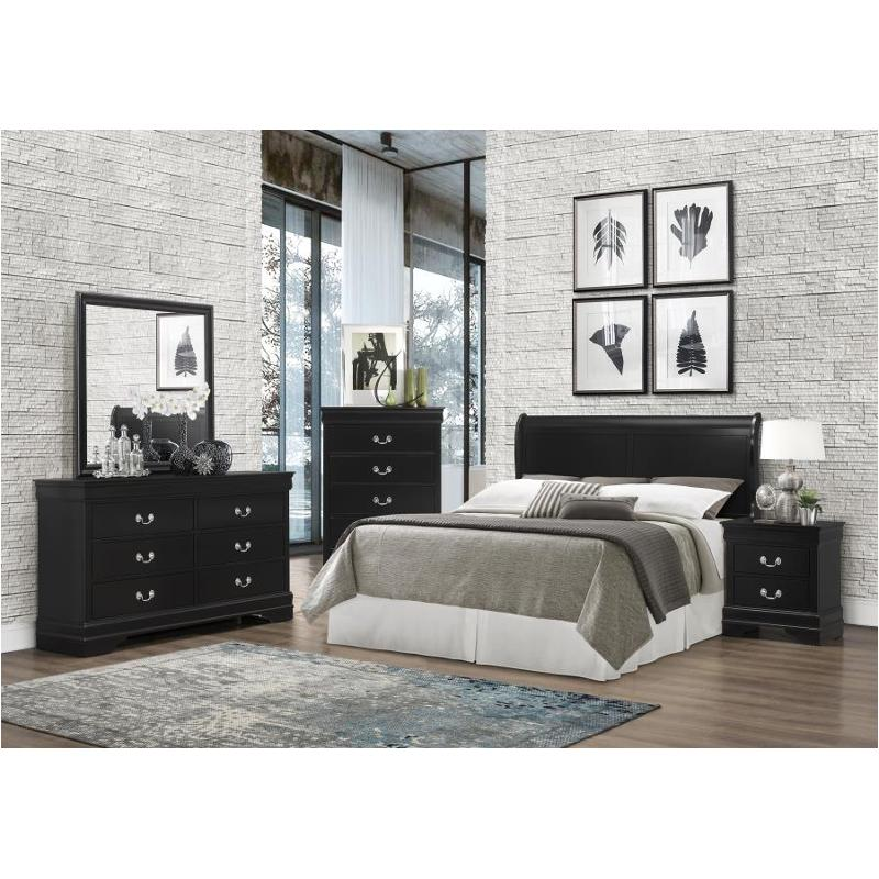 212411fh coaster furniture louis philippe black wood headboard