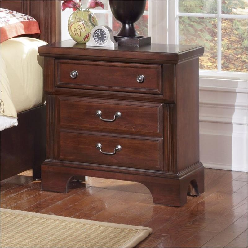 bb51 226 vaughan bassett furniture new haven dark cherry nightstand dark cherry