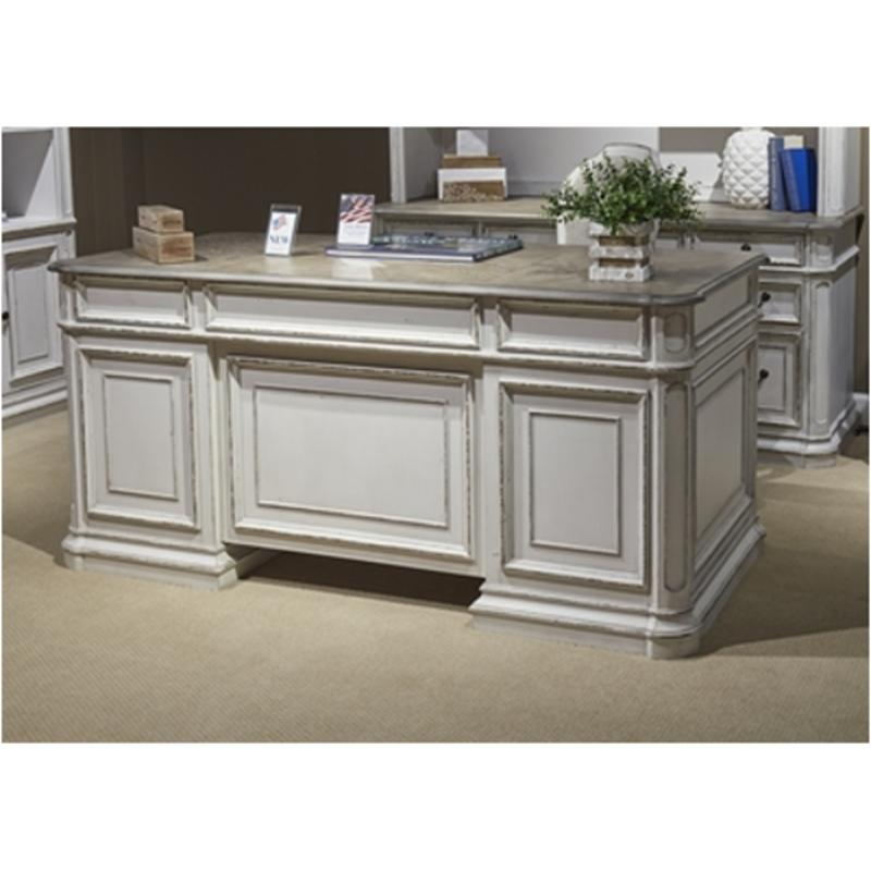244 ho105b liberty furniture magnolia manor jr executive desk base