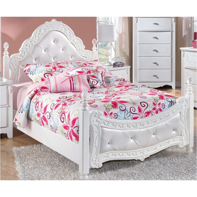 b188 72 ashley furniture exquisite white full poster headboard footboard