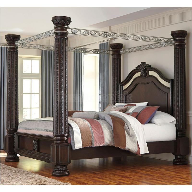 b717 72 ck ashley furniture laddenfield dark brown california king panels bed with footboard