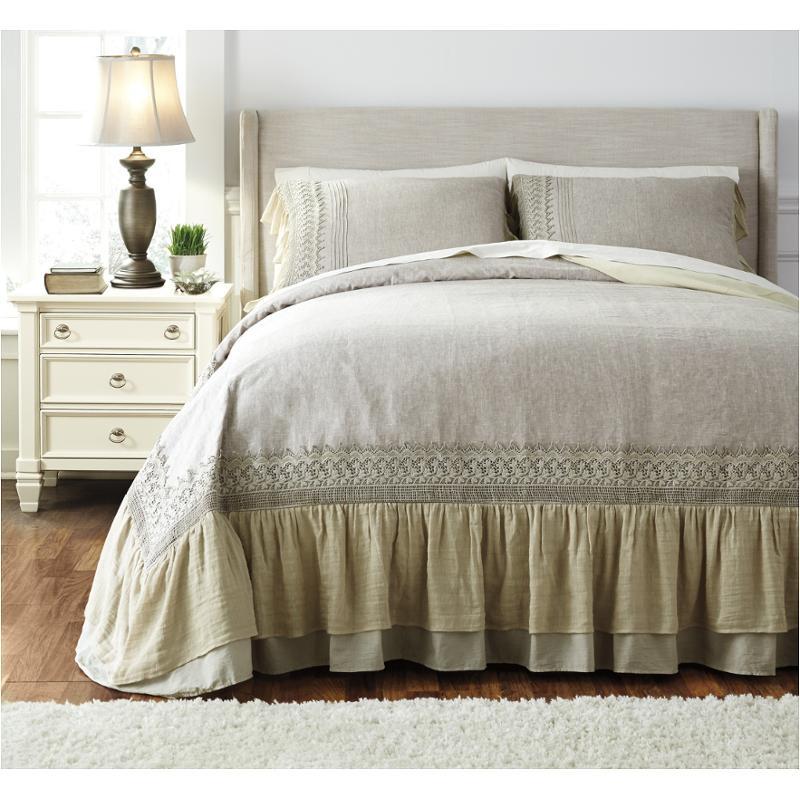 q456003q ashley furniture solid antique queen duvet cover set