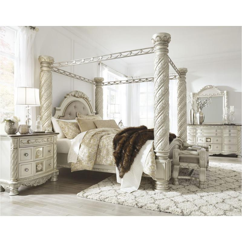 b750 50 ashley furniture cassimore king canopy bed