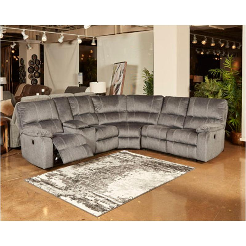 5720101 ashley furniture urbino charcoal laf double recliner power console loveseat