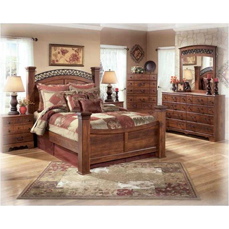 b258 77 ashley furniture timberline queen poster bed