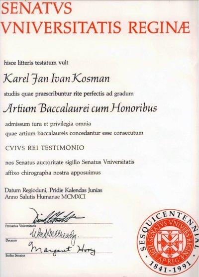 university diploma certificate