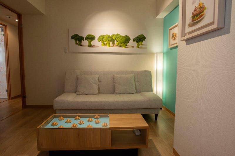 ▲2パターンの部屋が公開。写真は1つめ
