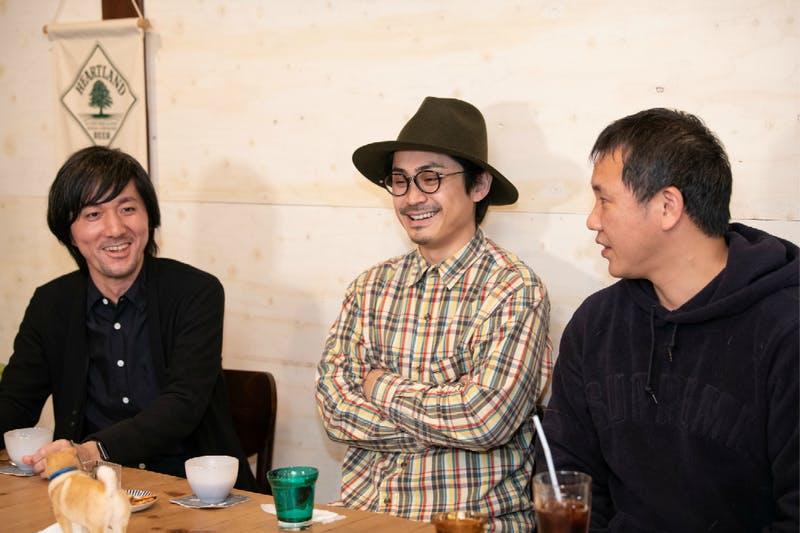 ▲対談の様子(左から田中氏、パントビスコ氏、小野氏)