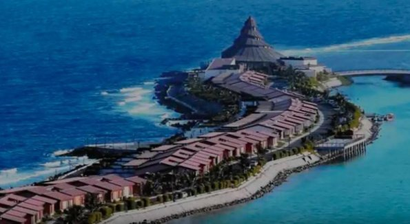 Imagine de arhivă al unui complex turistic pentru familia situat în Jeddah pe coasta Mării Roșii din Arabia Saudită.